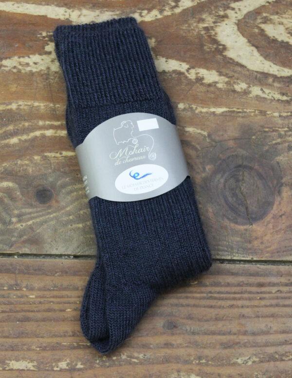 Chaussettes fines Mohair - Ardoise 3 - Une Ferme à la Bassette