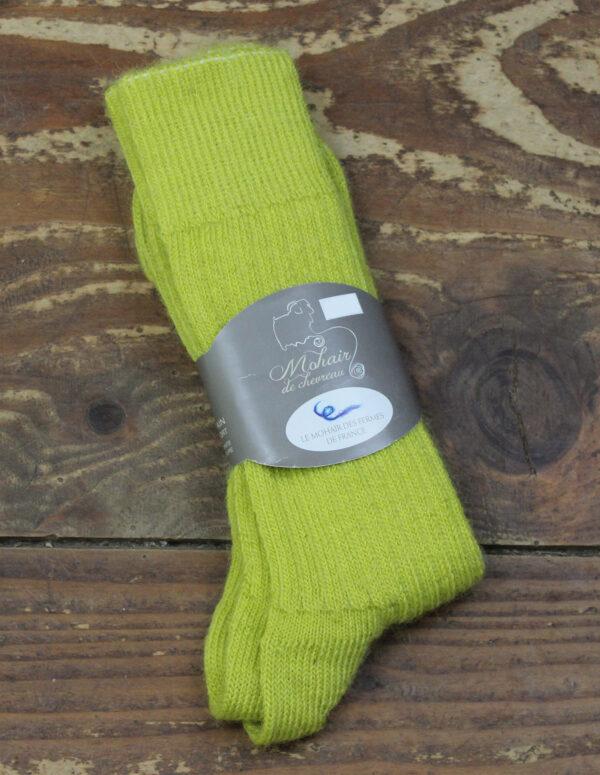 Chaussettes fines Mohair - Absinthe 3 - Une Ferme à la Bassette