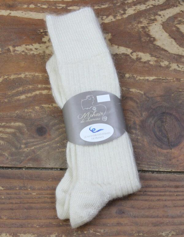 Chaussettes fines Mohair - Ecru 3 - Une Ferme à la Bassette