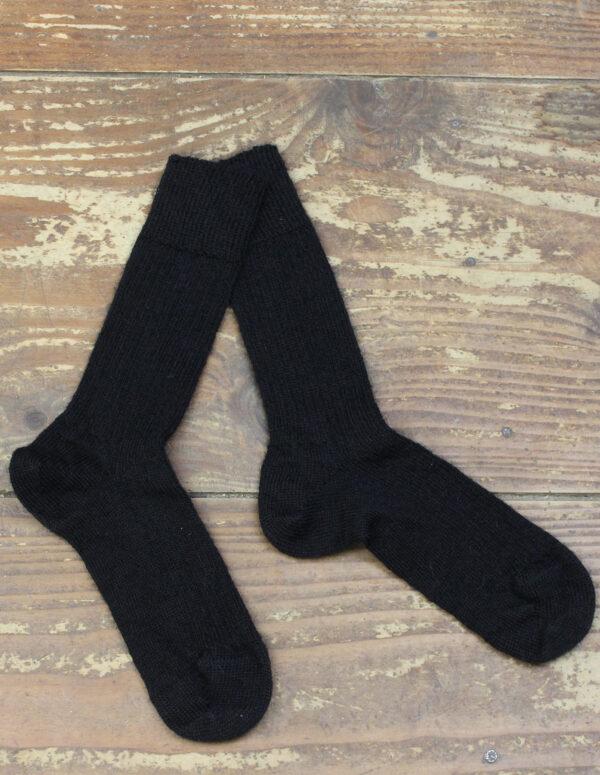 Chaussettes fines Mohair - Noir 2 - Une Ferme à la Bassette