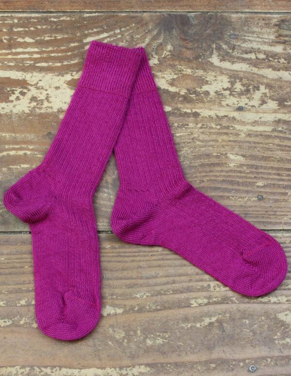 Chaussettes fines Mohair - Rose Thyrien 2 - Une Ferme à la Bassette