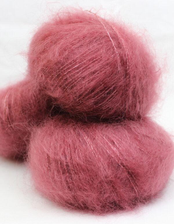 Pelote Mohair et Soie - BOIS DE ROSE 2 - Une Ferme à la Bassette
