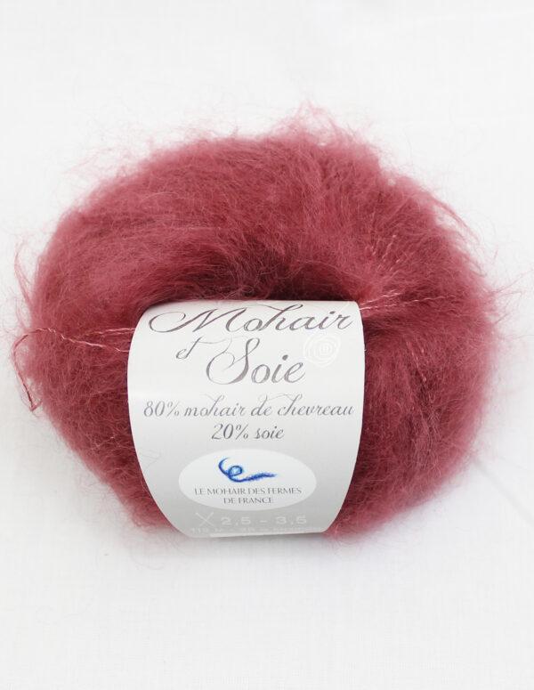 Pelote Mohair et Soie - BOIS DE ROSE - Une Ferme à la Bassette